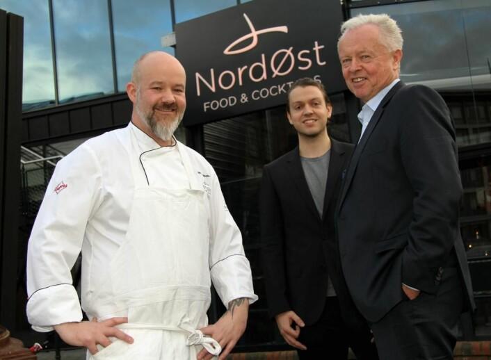 <em>De tre gründerne bak NordØst, fra venstre daglig leder Lars Erik Vesterdal, nestleder og assisterende daglig leder, Peter André Gjerde, og styreleder Bjarte Gjerde. (Foto: Morten Holt)</em>