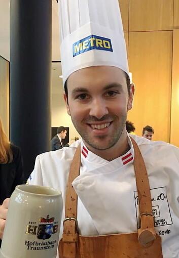 Kevin Micheli fra Østerrike var den siste deltakeren som ble klar for Bocuse d'Or Europe 2016.