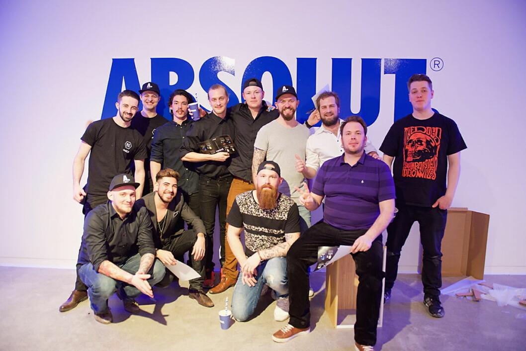 Alle deltakerne i den norske finalen av Absolute Invite 2016.