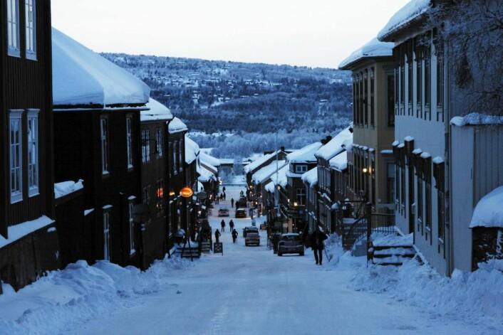 Røros i januar. (Foto: Morten Holt)
