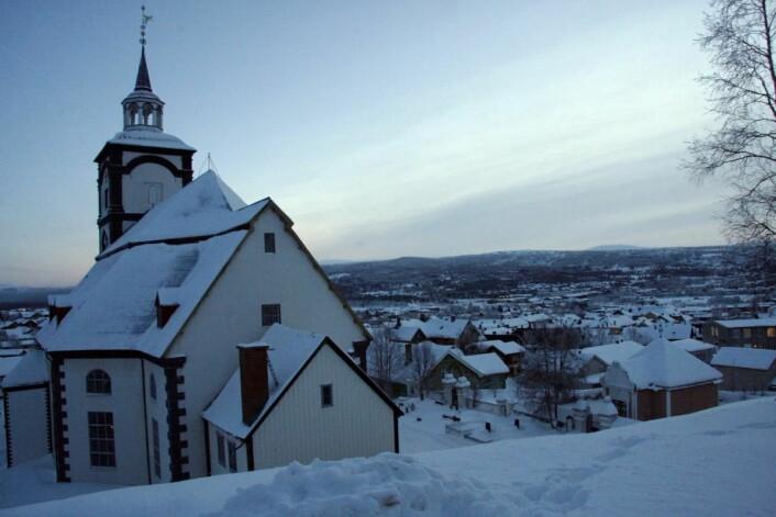 Den mye fotograferte kirken på Røros. (Foto: Morten Holt)