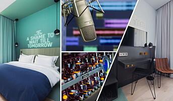 Første norske hotell med eget musikkstudio