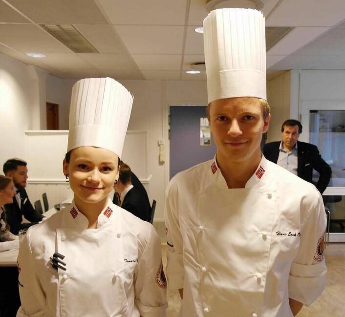 Hans Erik Olsen fra NordØst Food & Cocktails med sin commis Tamara Iversen gikk seirende ut av kokkeklassen.