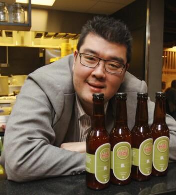 Hai Hang selger øl via en ny app. (Foto: Even Rise.)