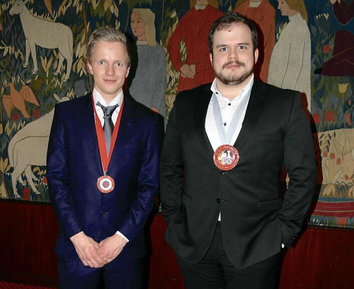 De to vinnerne, Hans Erik Olsen (til venstre) og Tim Drew.