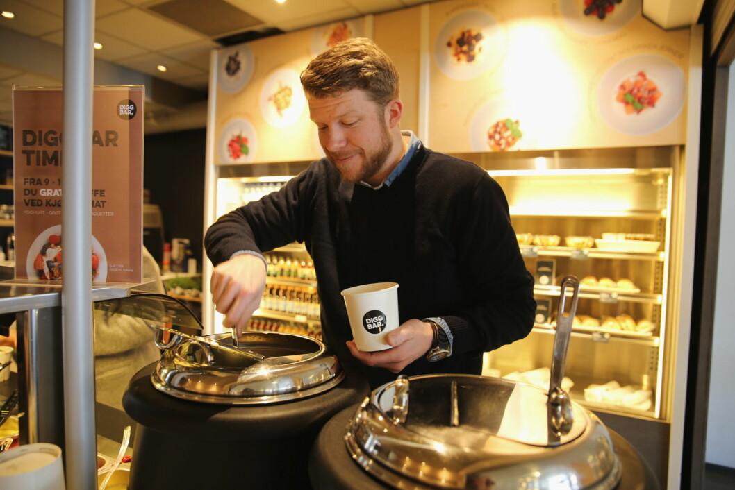 Jeppe Sondov er produkt- og konseptsjef for SiO Mat og Drikke. (Foto: Unni Irmelin Kvam)