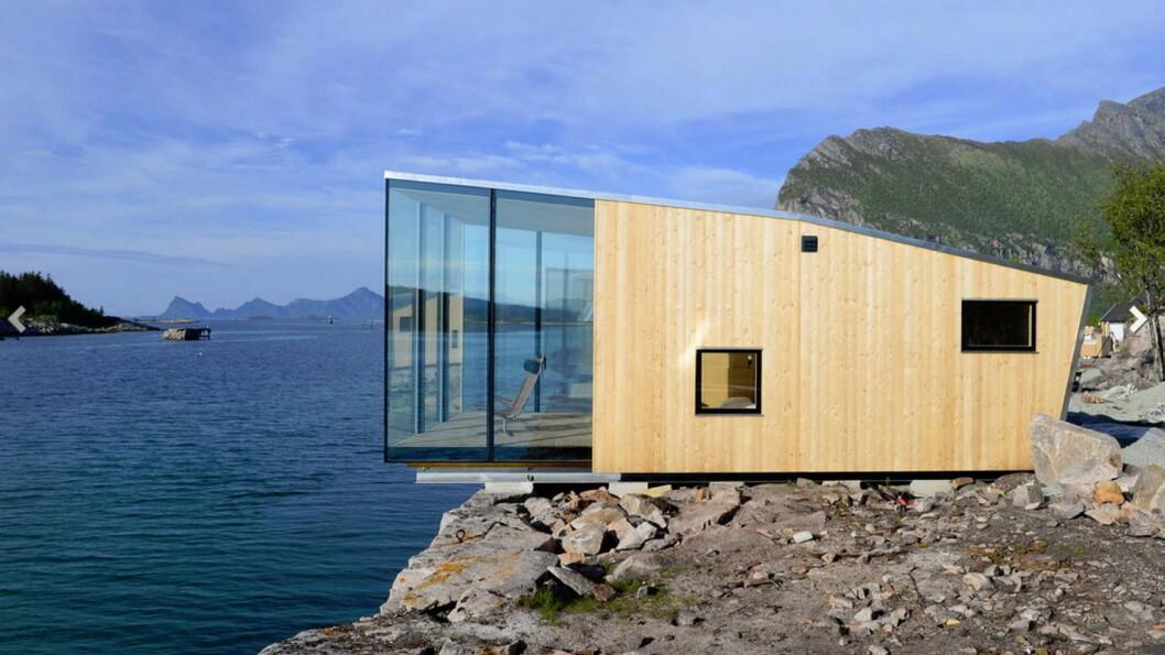 De spesielle hyttene på Manshausen i Nordland.  (Foto: Manshausen)