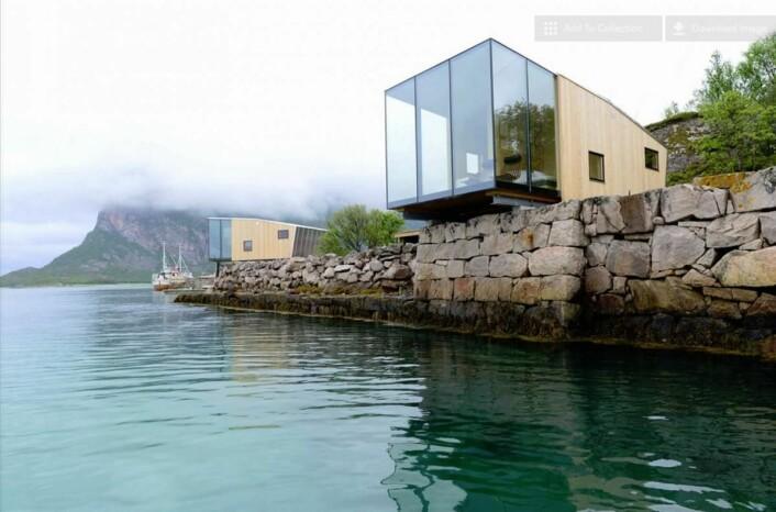 Manshausens sjøhytter er tegnet av Snorre Stinessen. (Foto: Manshausen)