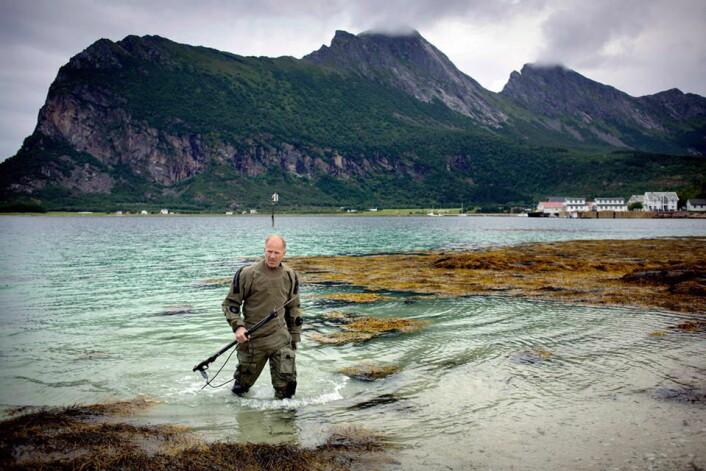 Børge Ousland. Norskot i bakgrunnen. (Foto: Manshausen)