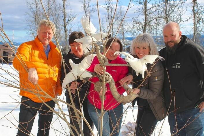 Arrangementskomiteen. Fra venstre salgssjef Terje Steinsrud (Radisson Blu Beitostølen), Inger Gjøgali (bookingsjef) Ragnhild Bakken (Beitostølen Resort), Tone Greni (Tone Greni Hud&MakeUp) og Pål Andvord (daglig leder i Barcraft). Anne Tveter var ikke til stede da bildet ble tatt. (Foto: DestinasjonsKirurgene)