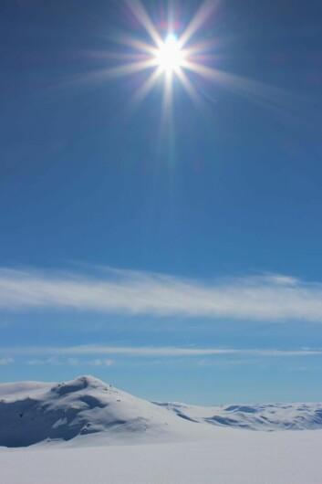 Sola skinner på Beitostølen resort om dagen. Her fra Valdresflya denne uka. (Foto: DestinasjonsKirurgene)