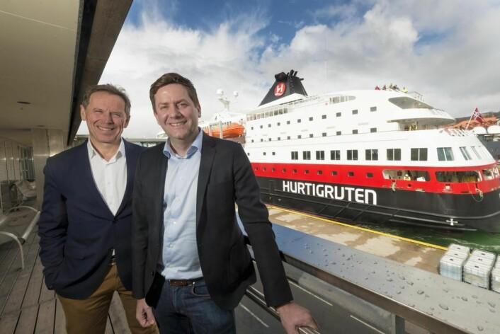 Daniel Skjeldam i Hurtigruten og Ståle Rasmussen hos Kleven. (Foto: Tor Farstad)