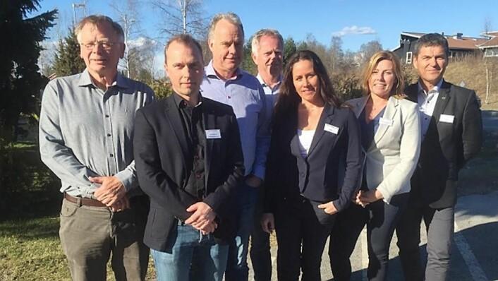 BFSN-styret i 2016: Fra venstre daglig leder Arne Dalseng, styreleder Brede Hemma, styrerepresentantene Tore Engebakken, Geir Pedersen (Norrøna Storkjøkken AS), Lene Gabrielsen, Marita Hjermstad Løhren (Foodtech Interiør og Storkjøkken AS) og Henning Brun (Ecolab AS). (Foto: Privat)