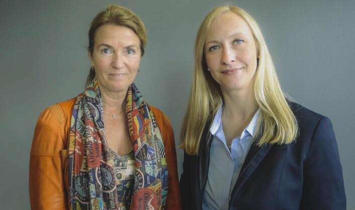 Renate Larsen sammen med styreleder Marianne E. Johnsen.