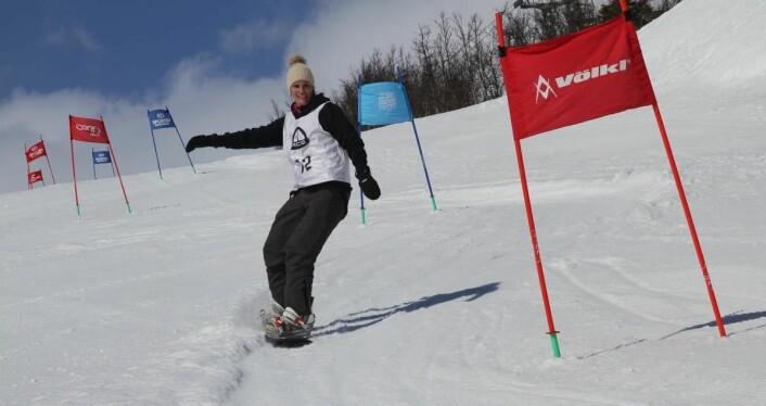Mari Bruaas fra Scandic Helsfyr på brett. (Foto: Morten Holt)