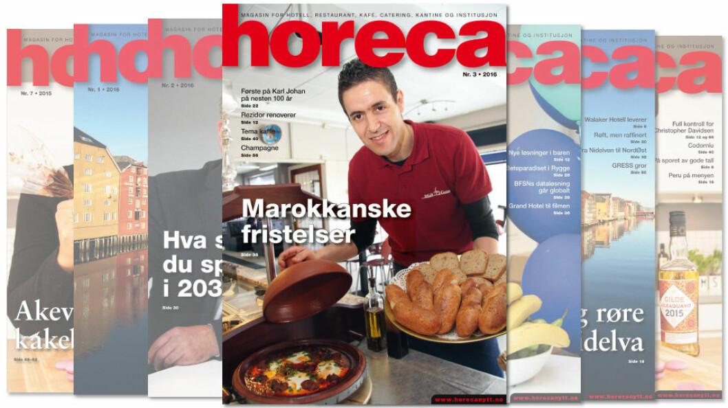 Omslaget på Horeca nummer 3 2016. (Foto: Morten Holt/layout: Tove Sissel Larsgård)