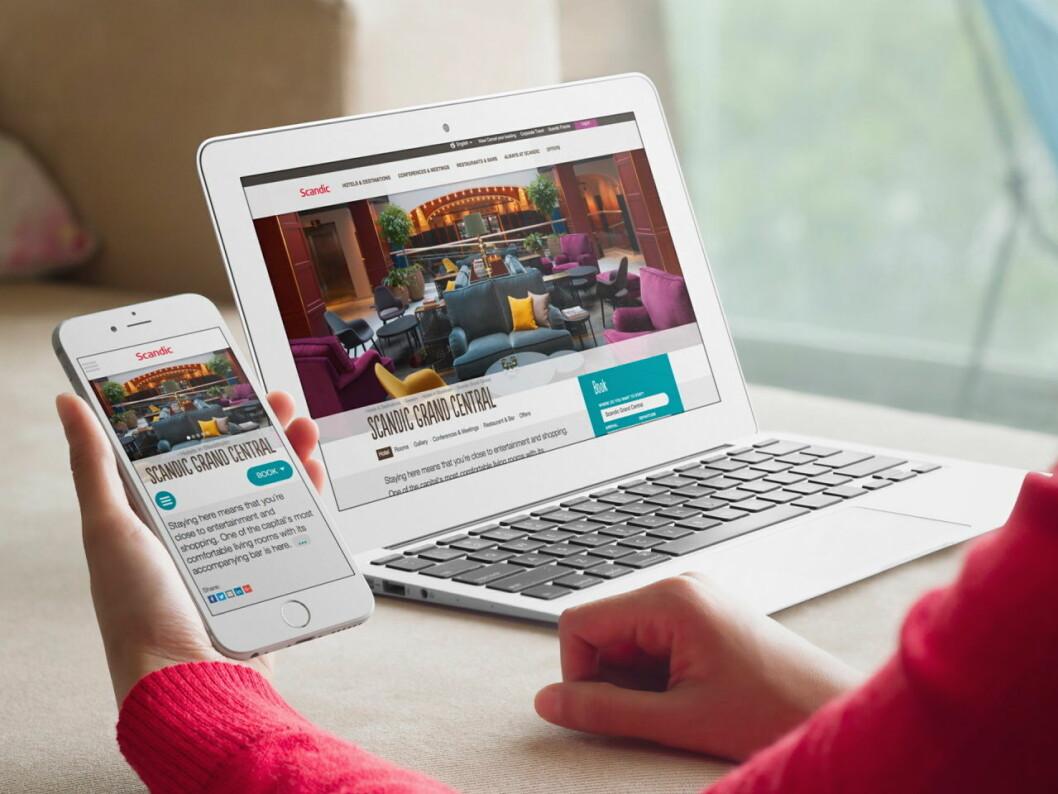 Scandic Hotels har lansert nye nettsider.