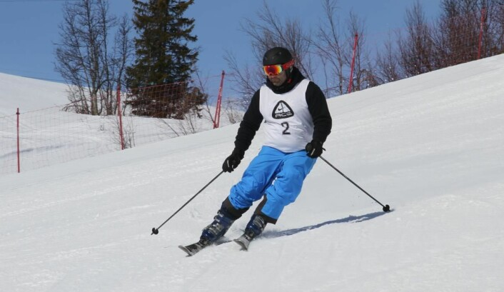 Erik Lopez Gran i aksjon. (Foto: Heidi Fjelland)