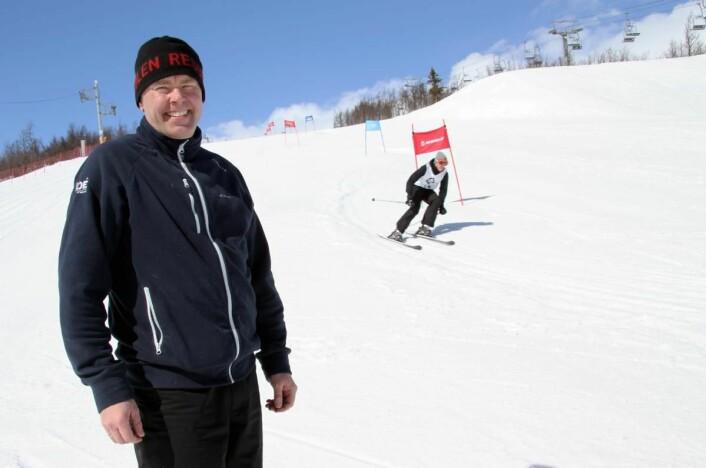Atle Hovi er primus motor for alpinmesterskapet for hotell- og restaurantansatte. (Foto: Morten Holt)