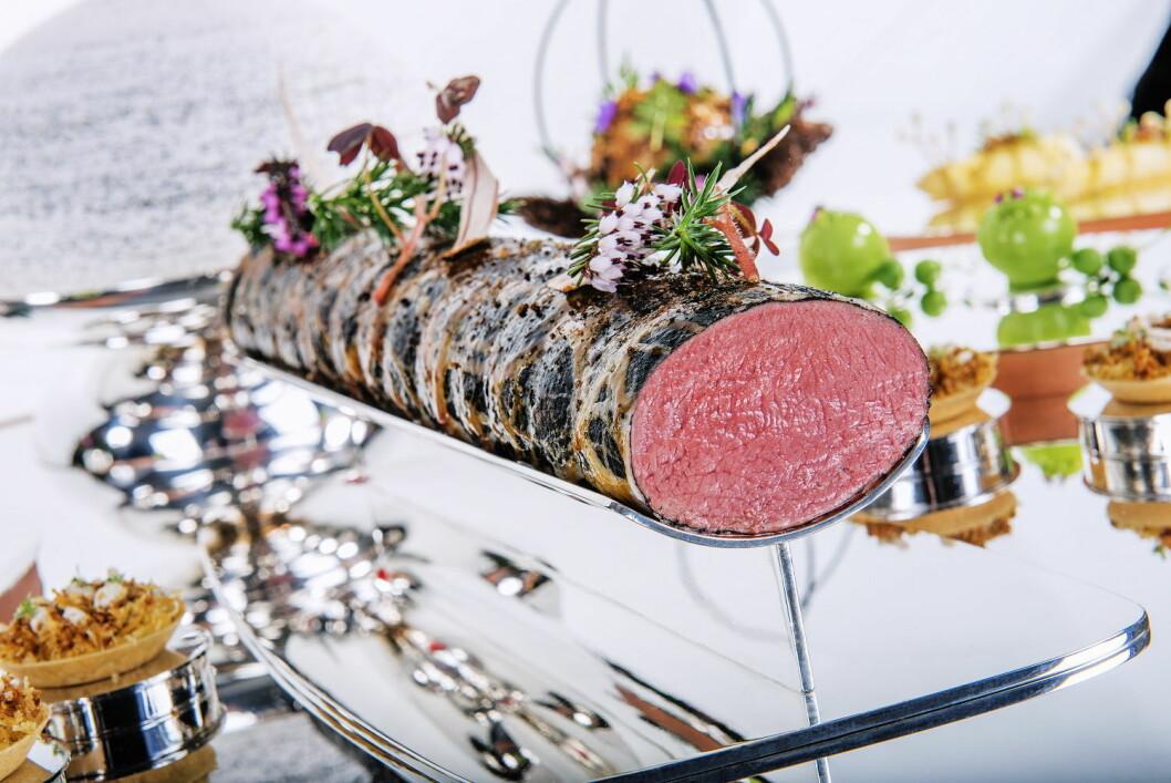 Kjøttretten, som ble servert av Christopher W. Davidsen i Budapest. (Foto: Fredrik Ringe)
