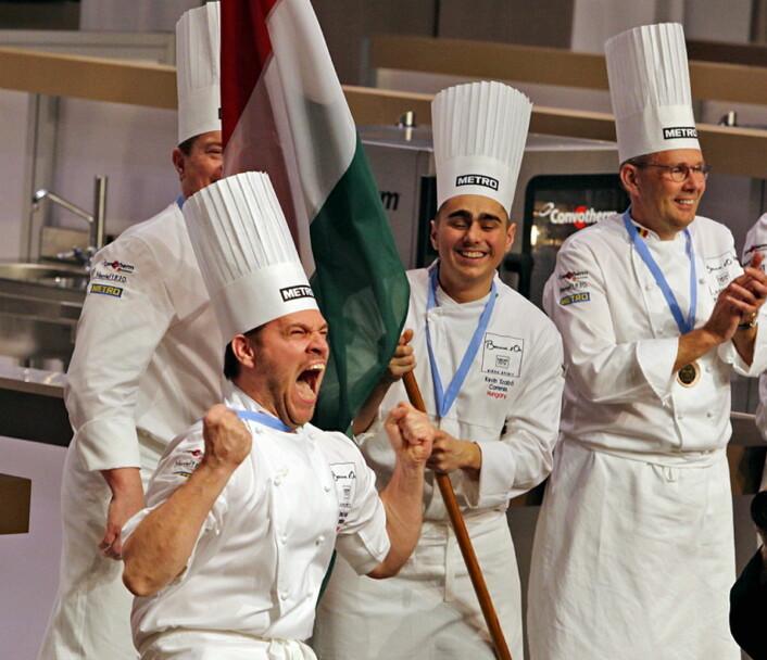 Stor stas med ungarsk seier i Budapest. (Foto: Bocuse d'Or Europe/Le Fotographe)