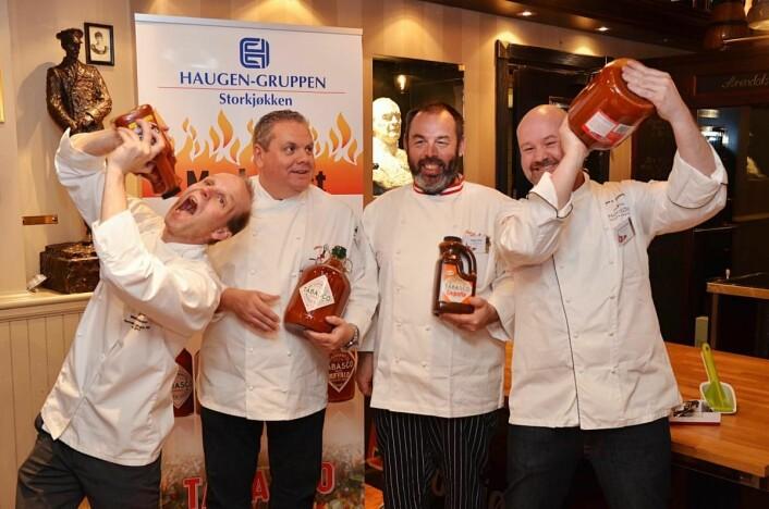 Juryen i den norske finalen av Tabasco Hot Chef 2016.