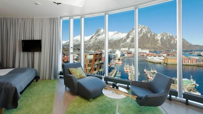 Thon Hotel Lofoten er fylkesvinner i Nordland. (Foto: Thon Hotels)