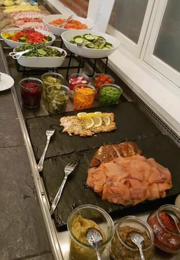 Fra frokostbufeen på Scandic Park Drammen. (Foto: Scandic Hotels)