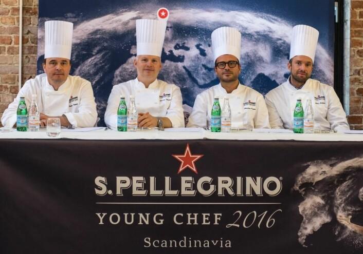 Juryen i den skandinaviske finalen av S. Pellegrino Young Chef 2016. (Foto: Jens Bredberg)