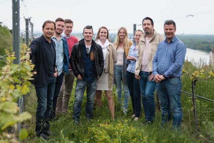 Ansatte på Kulinarisk Akademi på besøk i Østerrike. (Foto: Eirik Sand Johnsen)