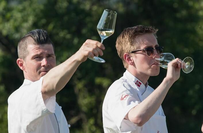 Kokkene på KA med landslagssjef Jostein Medhus (til venstre) i spissen, har besøkt Østerrike. (Foto: Eirik Sand Johnsen)