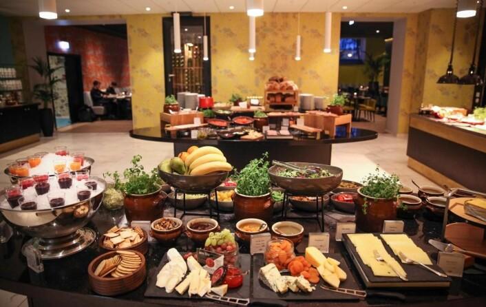 Fra frokosten på Thon Hotel Rosenkrantz - i Bergen. (Foto: Thon Hotels)
