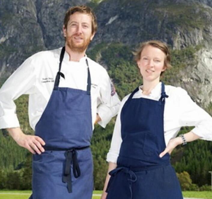 Kokkeparet Olise og Bjørn Cameron Alexander gir seg på KavliMoen. Nå søker styret nye drivere til stedet. (Foto: KavliMoen)