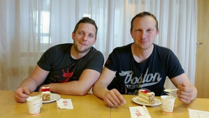 Daglig leder Øystein Williksen og styreformann Frank Jensen hos Gulating Hamar.