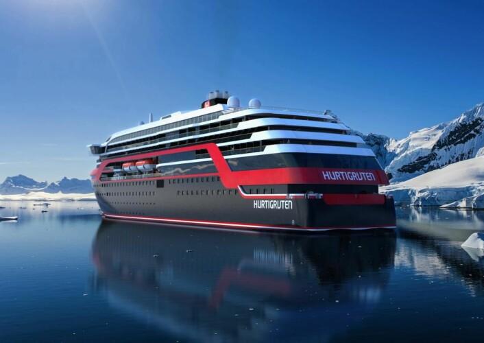 Investeringen i fire nye ekspedisjonsskip er Hurtigrutens største investering noensinne.