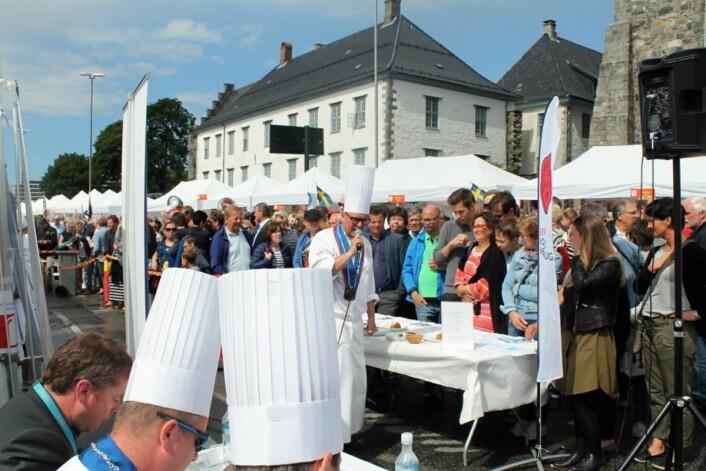 Årets Sjømatkokk ble som alltid arrangert i Bergen. (Foto: Årets Sjømatkokk)