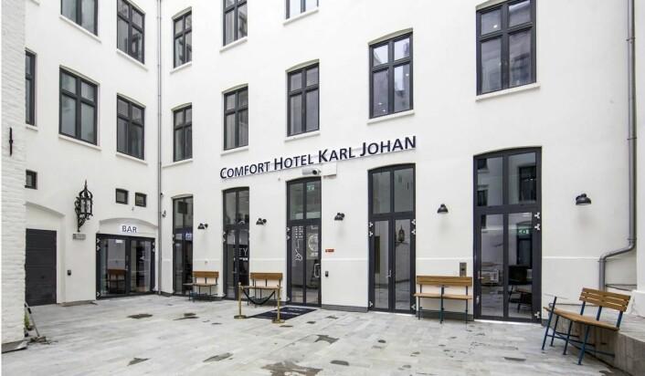 Inngangspartiet til Comfort Hotel Karl Johan. (Foto: Marika Markestøl)