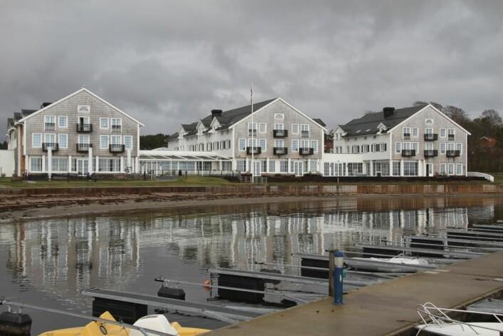 Eier Stig Fische har latt seg inspirere av badehotellene i New Hamptons i USA. (Foto: Morten Holt)