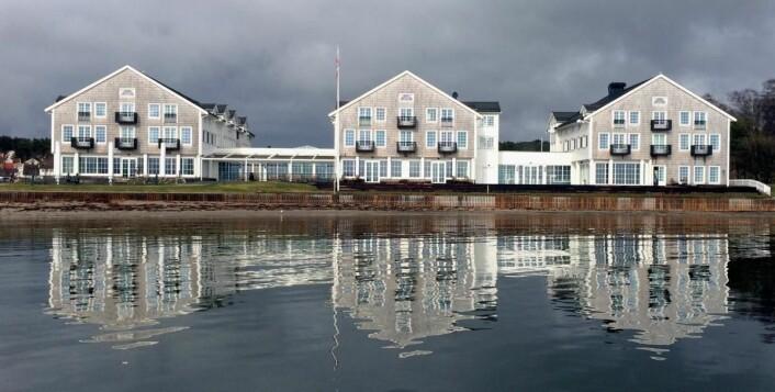 Støtvig Hotel ligger nede ved havet på Larkollen i Østfold. (Foto: Morten Holt)