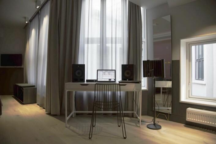 Egne musikkrom på Comfort Hotel Karl Johan.