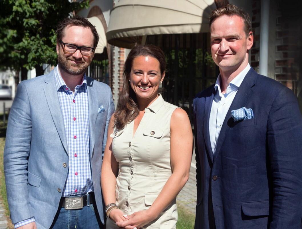 Stein-Erik Treverket (fra venstre), Michelle Hoad Vik, David Moir får nye stillinger i Solera. (Foto: Solera