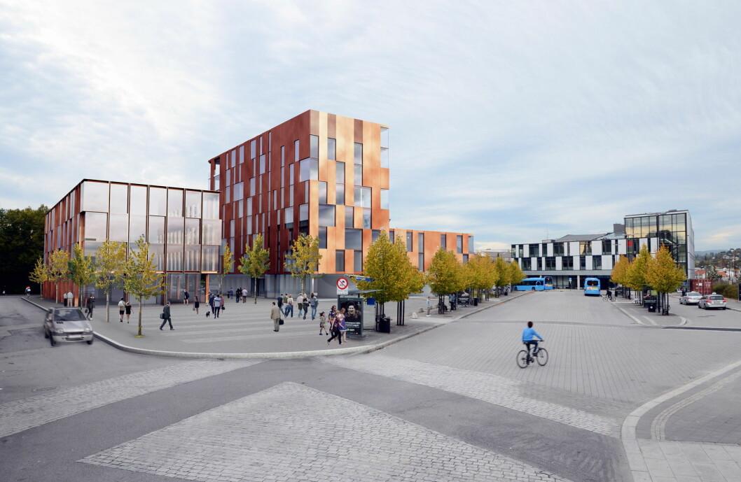 Comfort Hotel Porsgrunn skal stå ferdig i 2018.