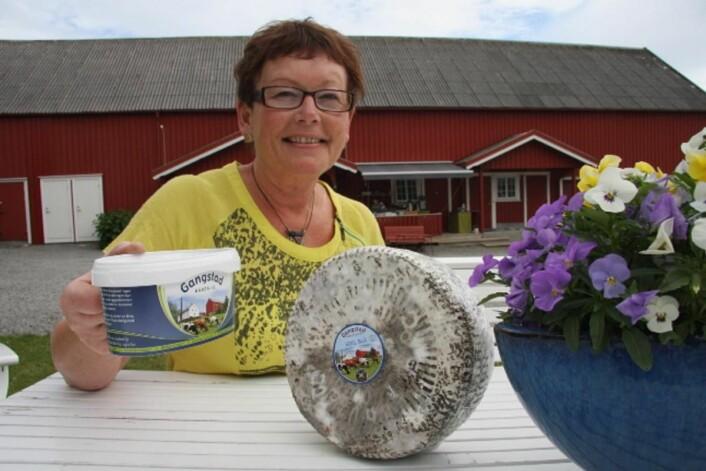 Ostegründer Astrid Aasen på Gangstad Gårdsysteri er nominert. (Arkivfoto: Morten Holt)