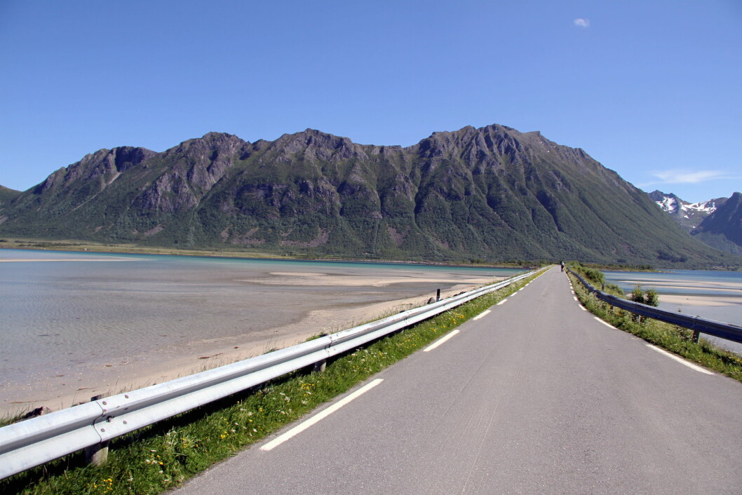 Fra Grunnfjørfjorden nord i Lofoten. (Foto: Morten Holt)