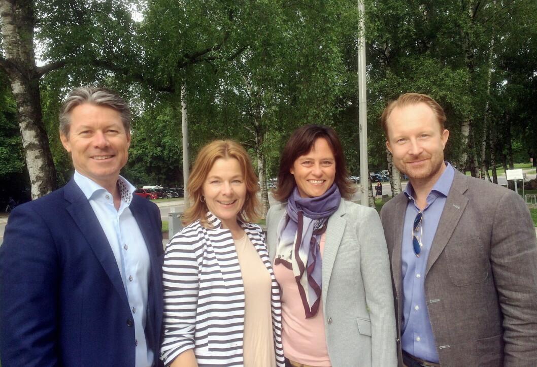 Kristen A. Hovland (Daglig leder i Keep-it Technologies), Anne-Grete Haugen (Daglig leder i Matvett), Anne Marie Schrøder (Kommunikasjonsansvarlig i Matvett) og Peder Bruusgaard (Country Manager i Keep-it).