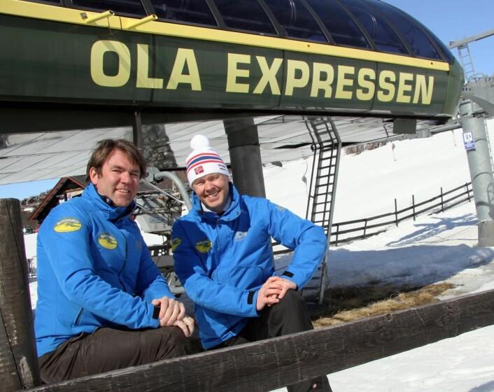 Bjørnar (til venstre) og Atle Hovi på Beitostølen. (Foto: Morten Holt)