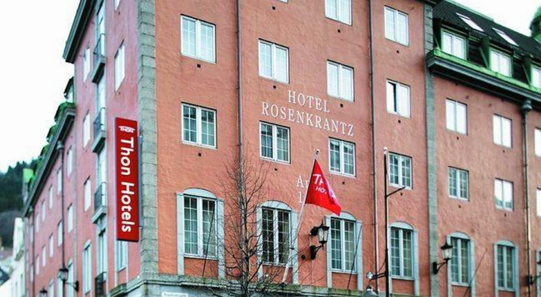 Thon Hotel Rosenkrantz i Bergen. (Foto: Arkiv)