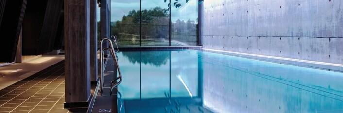 Fra det nye bassenganlegget på Røros Hotell. (Foto: Hotellet)