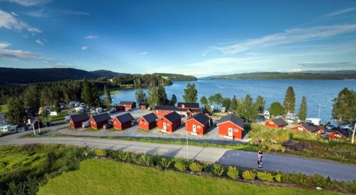 Føllingstua Camping ved Snåsavatnet like nord for Steinkjer. (Foto: Bedriften)