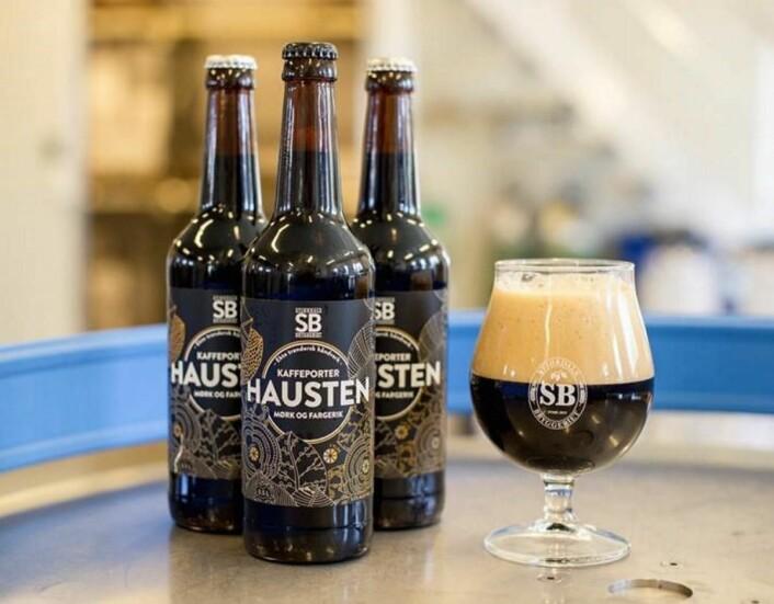 Stjørdalsbryggeriets øl Hausten har i dag fått gullmedalje i Nordic Beer Challenge. (Foto: Stjørdalsbryggeriet)